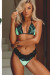 Laguna Mint & Black Single Edge Lace Bikini Top & Maui Mint & Black Lace Band Bikini Bottom