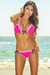 Orlando Magenta & Neon Pink Sweetheart Lace Triangle Top Scrunch Bottom Swimsuit