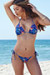 Palm Beach Sexy Midnight Tropical Print Triangle Top Thong String Bikini