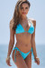 Aqua Triangle Top & Aqua Brazilian Thong Bottom