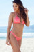 Neon Coral & Gold Duchess Print Triangle Top & Neon Coral & Gold Duchess Print Banded Brazilian Bottom