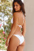 White Ribbed Triangle Top & White Ribbed Classic Scrunch Bottom