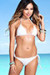 Surfside Solid White Triangle Top Single Rise Sexy Scrunch Bun® Bikini