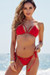 Beach Rose Red Bikini Top & Hibiscus Red Bikini Bottom
