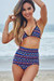 Waikiki Aztec Print Triangle Top & Scrunch Bottom Retro Sexy High Waist Bikini