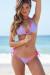 Sedona Lilac & Pink Triangle Top & Micro Rise Sexy Polka Dot Bikini