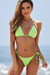 Neon Green Triangle Top & Neon Green Brazilian Thong Bottom