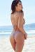 Ibiza Brazilian Cut 70s Paisley Print Triangle Top Sexy Thong Bikini