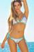 Vegas Party Sequin & Aqua Triangle Top Single Rise Scrunch Bun® Bikini