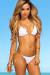 White & Gold Bikini Top & White & Gold Classic Scrunch Bikini Bottom