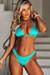 Jade Triangle Top & Jade Banded Brazilian Thong Bottom