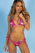 Laguna Pink Hibiscus Classic Bikini Top & Panama Pink Hibiscus Classic Bikini Bottoms