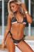 Blush & Black Lace Maui Bikini Top & Martinique Bikini Bottom