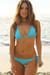 Laguna Solid Aqua Blue Triangle Bikini Top & Single Rise Scrunch Bottom Swimsuit