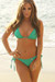 Laguna Solid Emerald Green Triangle Bikini Top & Classic Scrunch Bottom Swimsuit