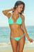 Tahiti Solid Mint Green Sexy Double Strap Triangle Top Micro Scrunch Swimsuit