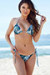 Acapulco Tropical Palm Print Cheeky Micro Scrunch Bottoms & Triangle Top Bikini