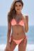 Salmon Triangle Bikini Top & Salmon Brazilian Thong Bottom