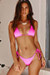 Neon Pink Triangle Top & Neon Pink Classic Scrunch Bottom