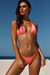 Salmon Triangle Bikini On a Chain Top & Salmon Cheeky Micro Bikini On a Chain Bottom