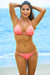 Oahu Bikini on a Chain™ Salmon Triangle Top & Single Rise Scrunch Bottom