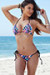 Acapulco Totally 80s Print Cheeky Micro Scrunch Bottoms & Triangle Top Bikini