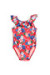 Cleo Pink Hibiscus Print Baby/Toddler One Piece Swimsuit