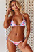 Pink Flamingo Triangle Top & Pink Flamingo Brazilian Thong Bottom