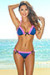 Orlando Navy & Neon Pink Sweetheart Lace Triangle Top Scrunch Bottom Swimsuit