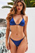 Navy Bikini On a Chain Triangle Top & Navy Classic Bikini On a Chain Bottom