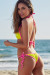 Neon Yellow & Pink Polka Dot Triangle Top & Neon Yellow & Pink Polka Dot Cheeky Micro Bikini Bottom