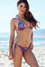 Surfside Sexy Purple Paisley Print Triangle Top Single Rise Scrunch Bun® Bikini