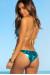 Laguna Turquoise & Gold Center Loop Bikini Top & Panama Turquoise & Gold Side Loops Bikini Bottom