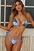 Laguna Steel Blue Velvet Classic Bikini Top & Panama Steel Blue Velvet Classic Bikini Bottom