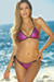 Antigua Fuchsia & Black Metallic Mermaid Bikini Top & Single Rise Scrunch Bottoms