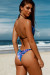Fantasy & Black Classic Bikini Top & Surfside Fantasy & Black Classic Single Rise Scrunch Bikini Bottom