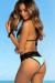 Laguna Mint & Black Single Edge Lace Bikini Top & Maui Mint & Black Lace Band Bikini Bottom