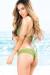 Cassia Olive Green Lattice Cut Out High Neck Halter Bikini Set