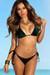 Laguna Classic Royalty Emerald Velvet & Black Bikini Top & Panama Classic Royalty Emerald Velvet & Black Bikini Bottom