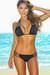 Solid Black Triple Strap Top & Classic Scrunch Bikini Bottom