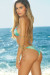 Jamaica Gold & Blue Green Shimmer Sexy Triangle Top Classic Scrunch Swimsuit