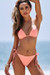 Salmon Triangle Bikini & Salmon Full Coverage Scrunch Bottom
