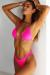 Ibiza Brazilian Cut Solid Hot Pink Triangle Top Sexy Thong Bikini