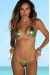 Laguna Olive & Gold Triple Chain Bikini Top & Panama Olive & Gold Triple Chain Bikini Bottom