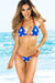 Tahiti Reversible Red, White & Blue Patriotic Stars Print Sexy Micro Bikini Swimsuit