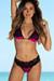 Berry & Black Lace Maui Bikini Top & Maui Bikini Bottom