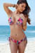 Surfside Sexy Lilac Tropical Print Triangle Top Single Rise Scrunch Bun® Bikini