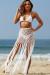 Mercier White Fringed Crochet Beach Skirt
