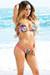 Tahiti Reversible Magenta & Tropical Print Sexy Micro Bikini Swimsuit