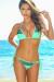 Pacifica Mint Green & Black Triangle Top Scrunch Bottom Sexy Color Block Bikini